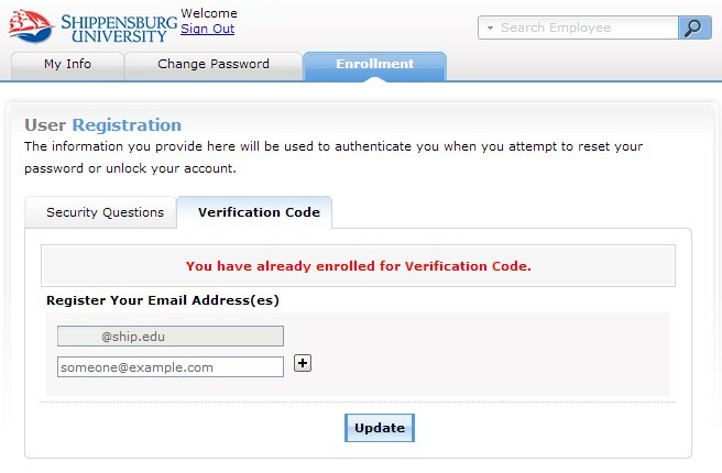 Account Self-Service Instructions user registration