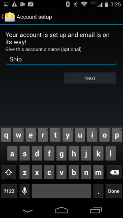 Android Account description