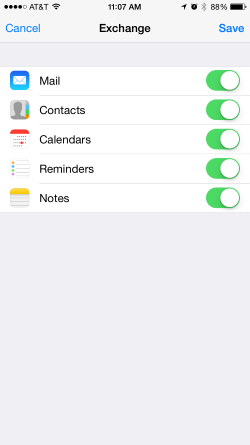 iPhone Sync options