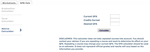 Shippensburg University - GPA Calculator Tab