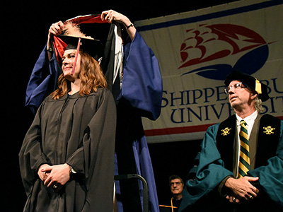 student at hooding