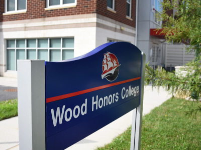 honors college sign