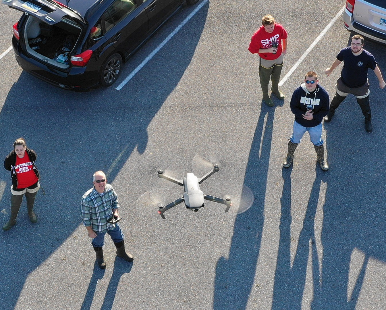 Drone mapping of parking lot