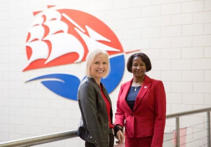Shippensburg University President Dr. Laurie Carter and WellSpan Health President and CEO Roxanna Gapstur